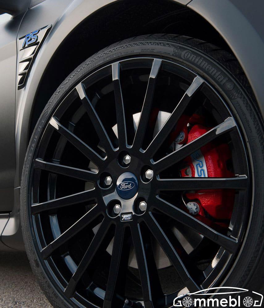 Ford Focus RS500: 350 Cv, cerchi da 19 e pneumatici Continental 225/35 1