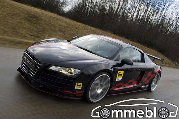MTM Audi R8 GT3-2: 560 cv, trazione posteriore, cerchi in lega da 20 abbinati a pneumatici Michelin o Dunlop 1