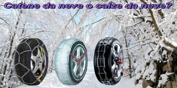 Catene da neve o calze da neve? Come scegliere la soluzione giusta per la tua auto