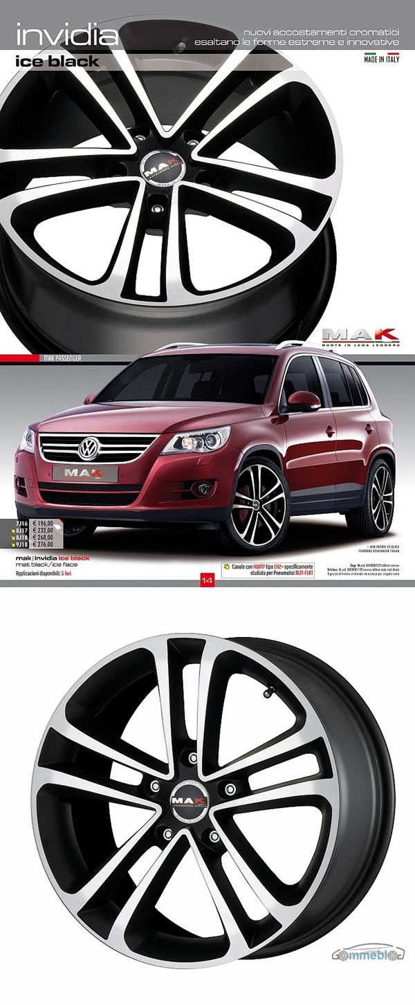 Cerchi in lega Mak Invidia Ice-black su VW Tiguan