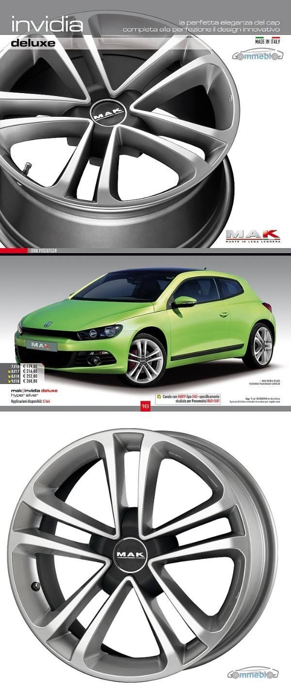 Cerchi in lega Mak Invidia deluxe su VW Scirocco