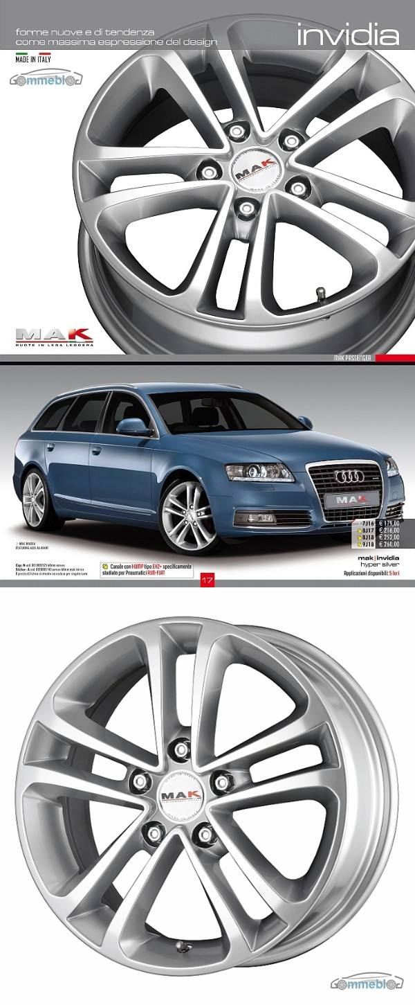 Cerchi in lega Mak Invidia su Audi A6 S-line