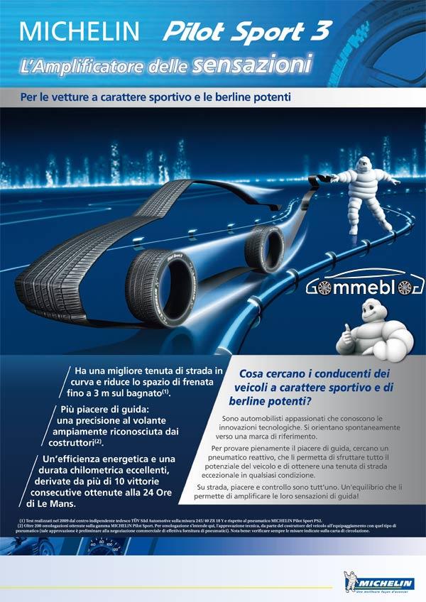 Anteprima Mondiale Michelin Pilot Sport 3, Gommeblog parteciperà all'evento
