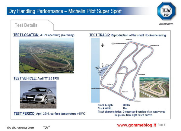 Test TUV pneumatici 245/40 ZR18. Michelin Pilot Super Sport sfida la concorrenza 1