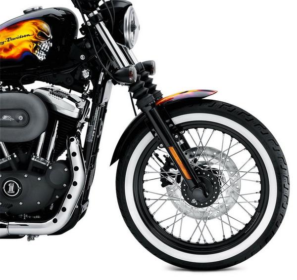 Harley - Davidson accessori 2011: pneumatici Dunlop D401 con fascia bianca 1