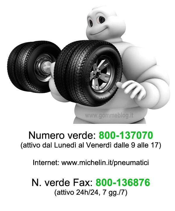Michelin Servizio Consumatori, numero Verde pneumatici 800-136876 1