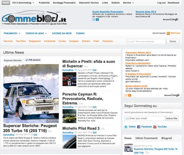 Gommeblog.it: il portale si rifà il trucco