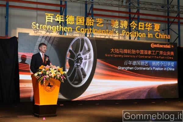 Continental inaugura ufficialmente la sua prima fabbrica in Cina