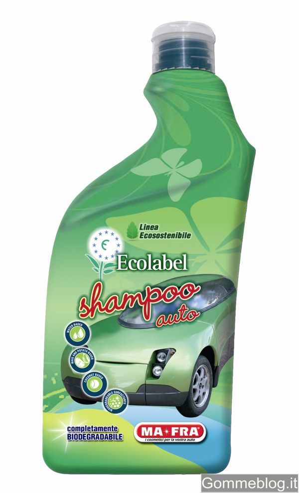 MA-FRA Shampoo auto Ecolabel: efficace detergente a base naturale