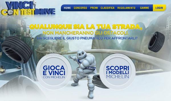 Michelin: Vinci con Test Drive. Divertiti e vinci i premi sfidando gli amici