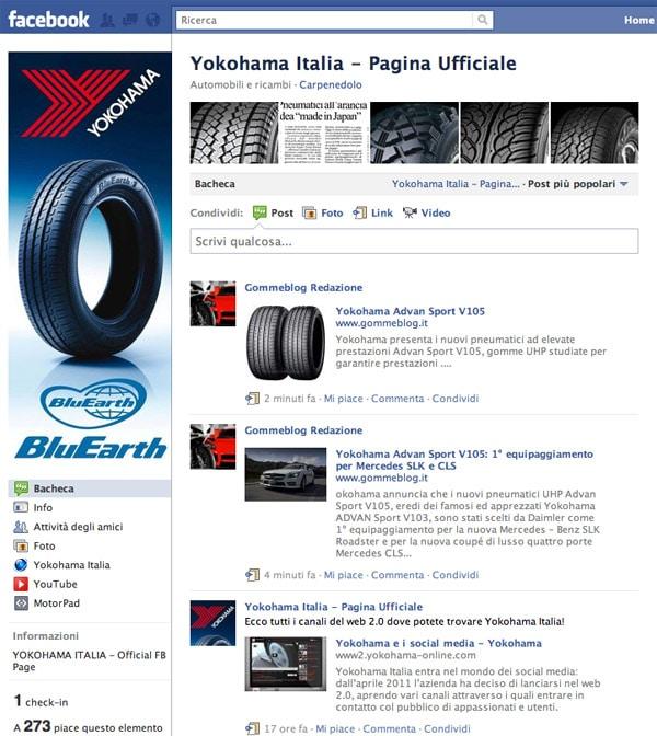 Yokohama Italia entra nei Social Media con i propri Canali Ufficiali