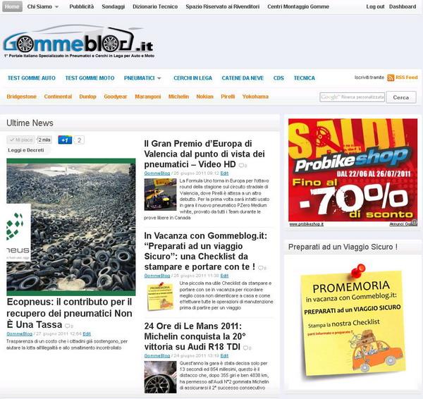 Gommeblog.it: tutto il web lo riconosce come portale nazionale di riferimento per i pneumatici