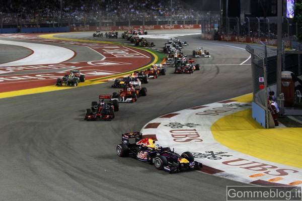 Formula 1 GP Singapore: Vettel conquista la prima vittoria a Singapore con Pirelli 2