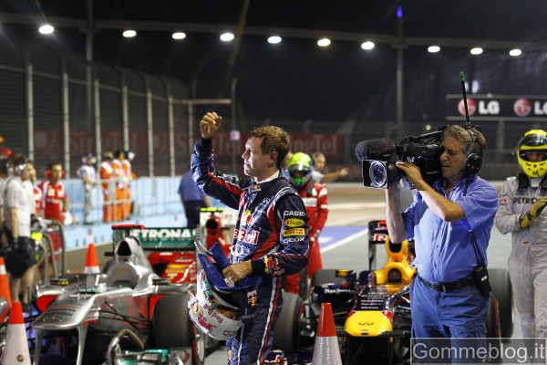 F1 Gp Singapore: Pole per Vettel con i pneumatici Pirelli P Zero Supersoft