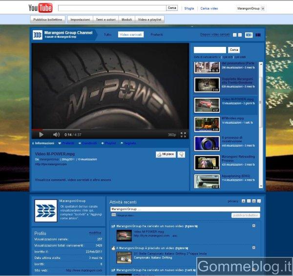 Marangoni Pneumatici: nuova pagina Facebook e canale Youtube 2