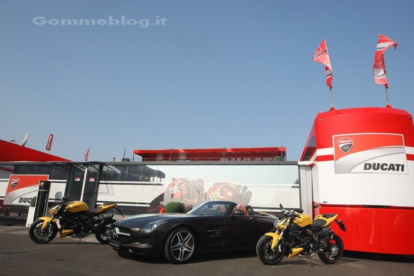 SLS AMG Roadster e Ducati Streetfighter 848, gemelle diverse 3