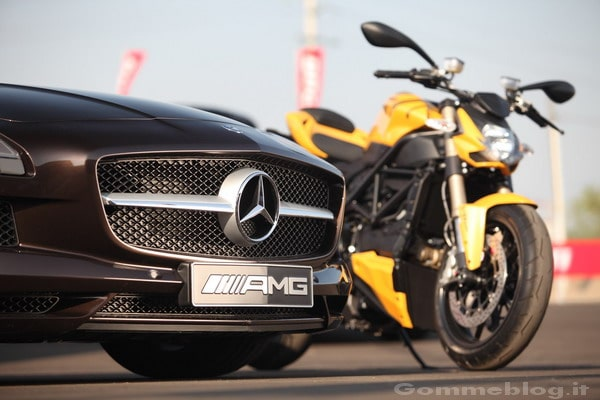 SLS AMG Roadster e Ducati Streetfighter 848, gemelle diverse