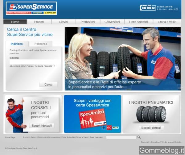 Goodyear – Dunlop rinnova il portale della propria Rete SuperService