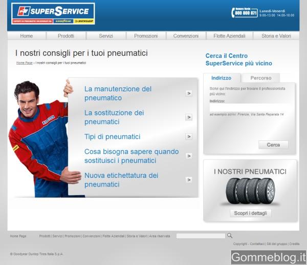 Goodyear - Dunlop rinnova il portale della propria Rete SuperService 2