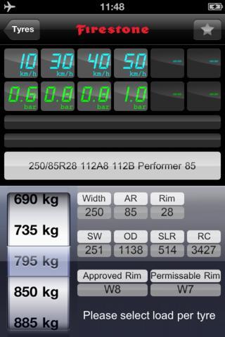Calcolare la pressione dei pneumatici: nuova APP da Firestone per iPhone 3
