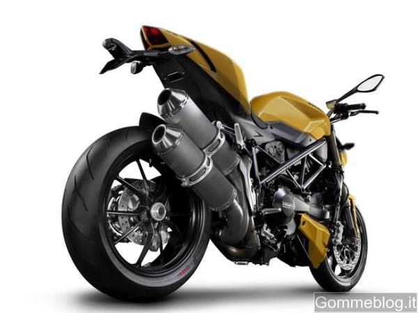 La nuova Ducati Streetfighter 848 calza Pirelli Diablo Rosso Corsa