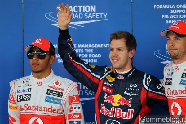 F1 Giappone: Vettel in pole davanti a Button per soli 0,009 secondi 2