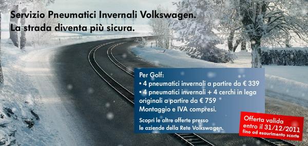 Pneumatici Invernali Volkswagen 2011 – 2012
