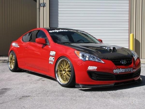 Hyundai Genesis by Enjuku Racing: motore sovralimentato e cerchi BC Racing