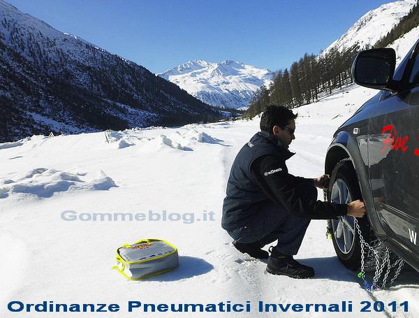 Ordinanze pneumatici invernali 2011: Tutte le Regioni