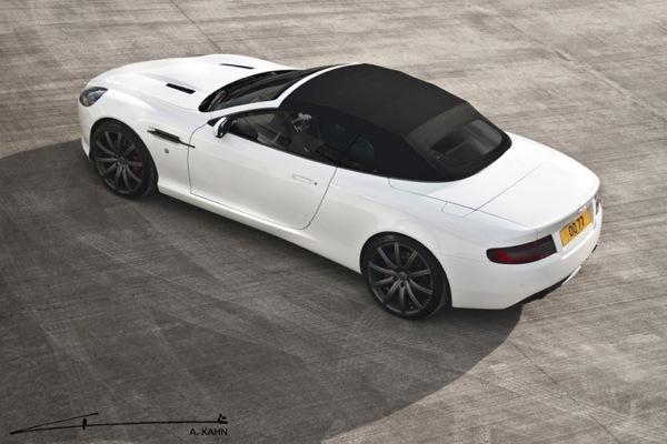 Aston Martin DB9 Volante con gli esclusivi cerchi RSV Kahn da 20 pollici
