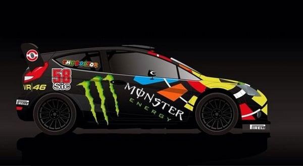 Valentino Rossi: al Monza Rally Show con il 58 di Marco Simoncelli sulla fiancata