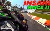 On Board Telecamera Giroscopica per Moto Nurburgring: Pieghe Record Kawasaki ZX10R