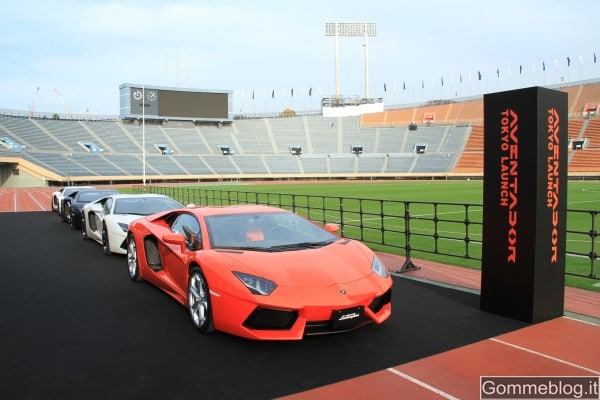 Lamborghini Aventador LP 700-4: evento spettacolare per il debutto in Giappone