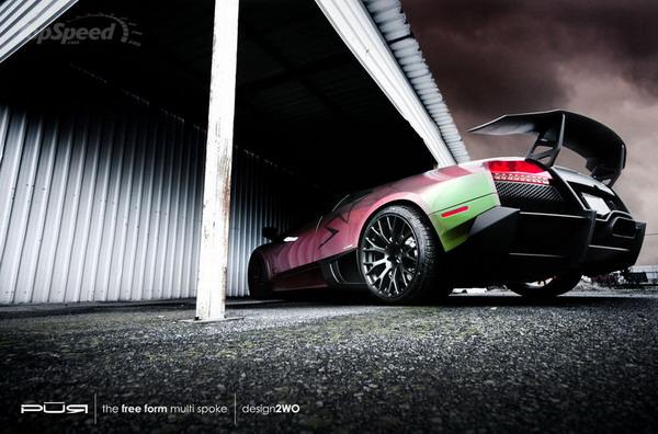 Lamborghini Murcielago LP670-4 SV: opera d'arte su 4 ruote by Pur Wheels