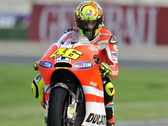 Moto GP Valencia: Valentino Rossi, la Ducati va bene sul bagnato