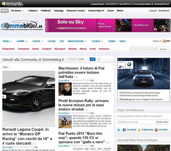 Gomme Blog: Articolo n° 2000 per festeggiare le 800.000 visite di Novembre