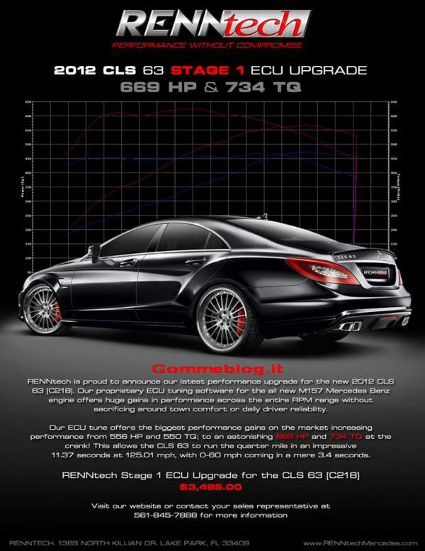 Mercedes CLS 63 AMG RENNtech: come passare comodamente da 0 a 100 in 3.4 secondi