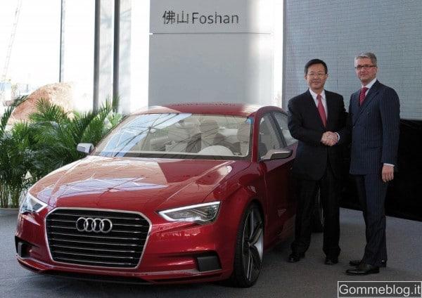 Nuova Audi A3: la produzione si farà in Cina