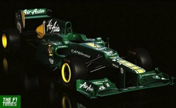 Caterham CT 01 è la prima monoposto di Formula 1 2012