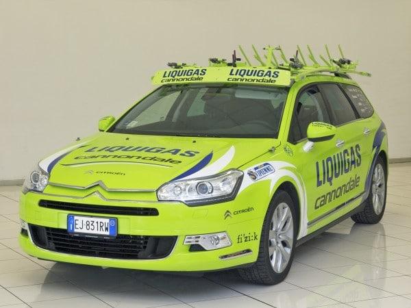 Ciclismo: Ammiraglie Citroen per Liquigas-Cannondale