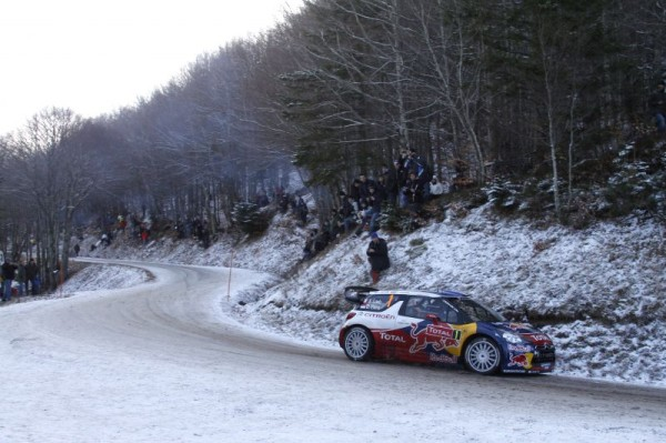 Rally Montecarlo 2012: partita l'ultima Power Stage. Loeb a 5 km dalla vittoria
