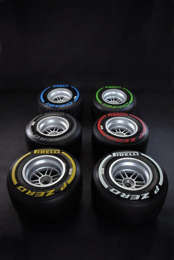 Pneumatici Formula 1: Pirelli spiega i codici a barre delle gomme F1 2