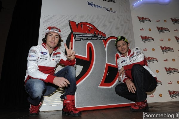 Valentino Rossi e Nicky Hayden a Wrooom 2012: pronti a tornare in azione con la Ducati GP12
