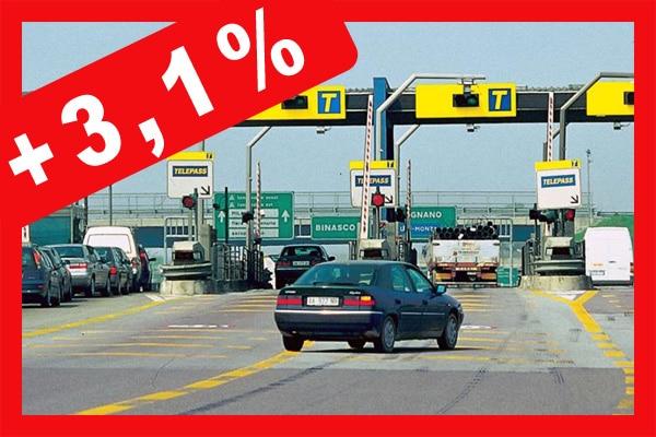 Autostrade: i pedaggi da ieri sono aumentati in media del 3%