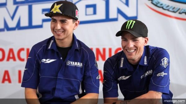 Jorge Lorenzo e Ben Spies danno Lezioni di MotoGP