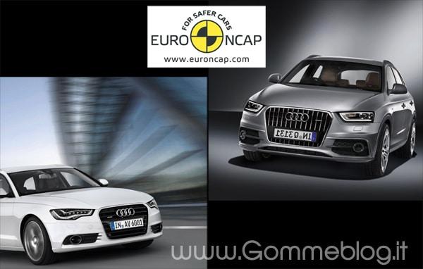Audi A6 e Audi Q3: sicurezza a 5 stelle nei test EuroNCAP