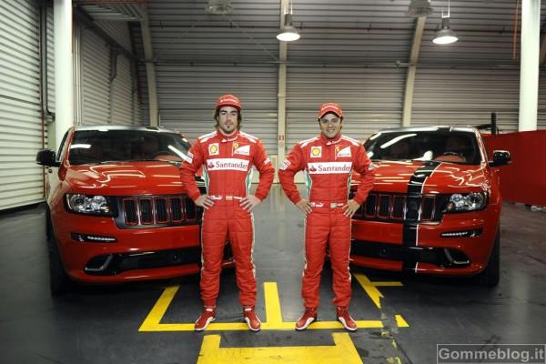 Jeep Grand Cherokee SRT8 si veste di Rosso Ferrari 3
