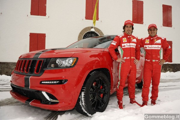 Jeep Grand Cherokee SRT8 si veste di Rosso Ferrari