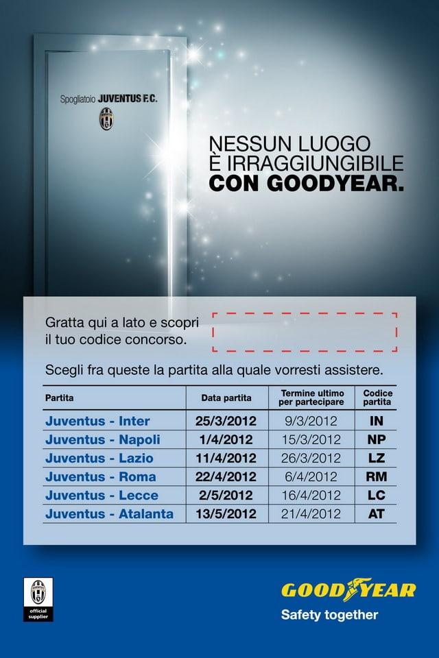 Juventus: Vinci Juve Stadium ed uno stupendo soggiorno con Goodyear