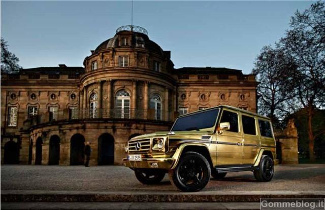 Una Mercedes Classe G tutta d'oro per celebrare i suoi successi 2